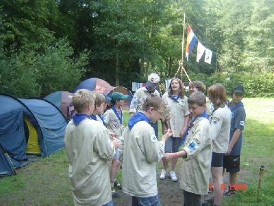 Meer foto\'s van het Explorerkamp 2004 in het Duitse Brexbachtal.